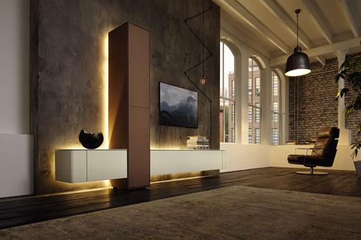 Комплект функциональной, модульной мебели для гостиной, в современном стиле, из массива дуба или шпона, под заказ, по своим размерам, для квартиры или частного дома, в Минске!