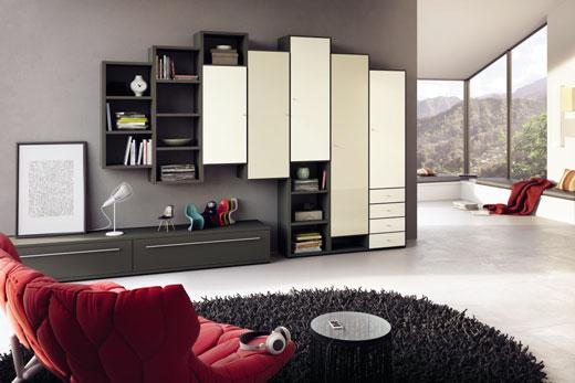 Модульная, корпусная мебель конструктор для гостиной в современном стиле, в лаке, глянце, шпоне дуба, массиве древесины, купить, под заказ, подобрать, и расставить в Минске
