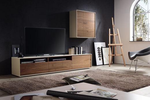 Модульная мебель для гостиной в современном стиле, лак, глянец, шпон в мебели под заказ