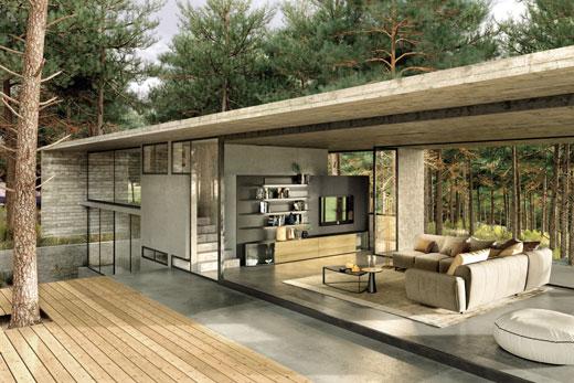 Программа Navis от Hulsta, корпусная, модульная мебель для гостиной, комплект, гарнитур, в современном стиле, шпон, лак, глянец, под заказ, в Минске