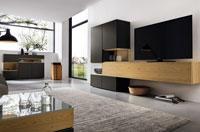 Модульная мебель, для гостиной комнаты, в современном стиле, лаки, глянец, шпон, мебель под заказ в Минске