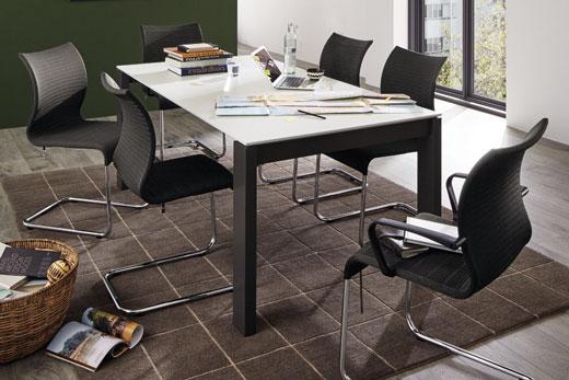 Обеденные столы с раскладкой, раздвижкой, в шпоне дуба, стекле, лаке, модульная мебель для столовой, обеденной зоны, под заказ в Минске